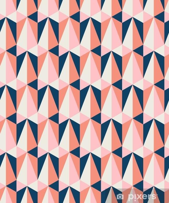 Pixerstick Sticker Naadloze retro patroon - Grafische Bronnen