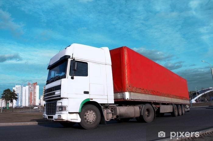 Naklejka Pixerstick Biała głowa - zobacz inne w moim portfelu ciężarówki - Przemysł ciężki