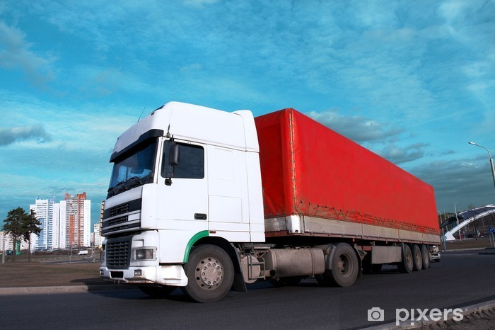 Sticker Pixerstick Tête blanche - voir d'autres camions dans mon portefeuille - Industrie lourde