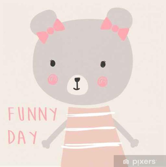 cute baby bear Poster - Animals