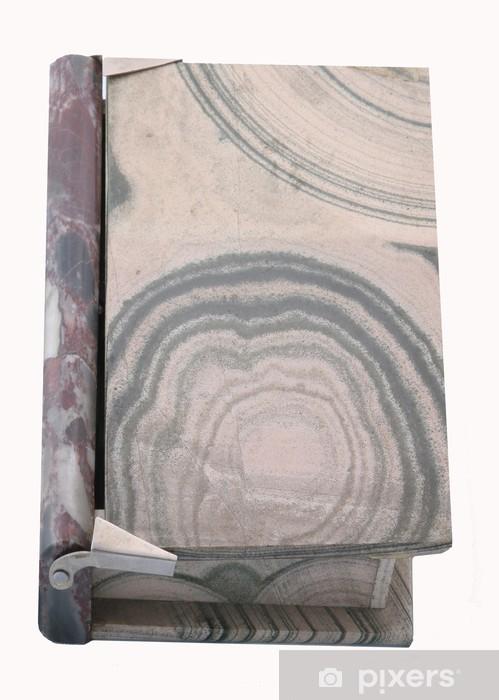 Vinilo Pixerstick Libro jaspe - Texturas