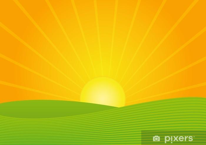 Papier peint vinyle Sonnenuntergang - Agriculture