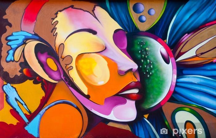 Graffiti kasvot Vinyyli valokuvatapetti -