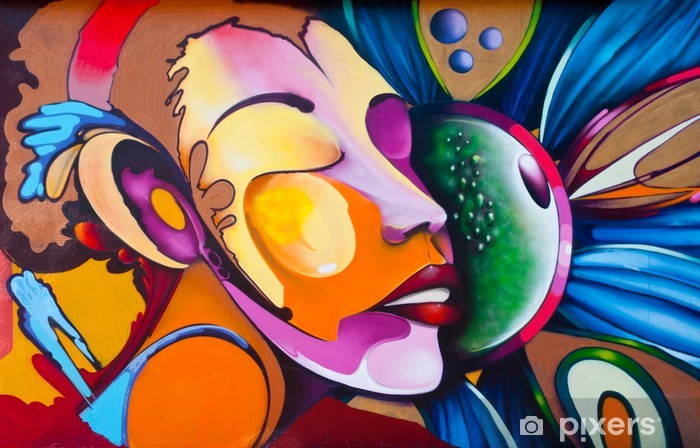 Graffiti face Vinyl Wall Mural -