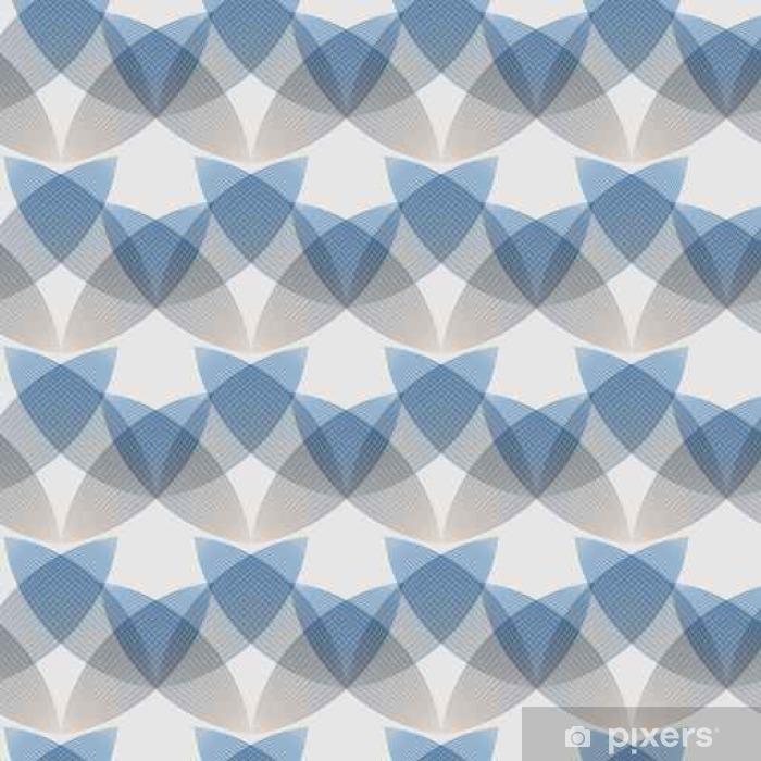 Papier peint vinyle Résumé fond bleu, des formes géométriques avec de nombreuses lignes fines. Seamless vector pattern. fond technologique avec des lignes grises. - Ressources graphiques