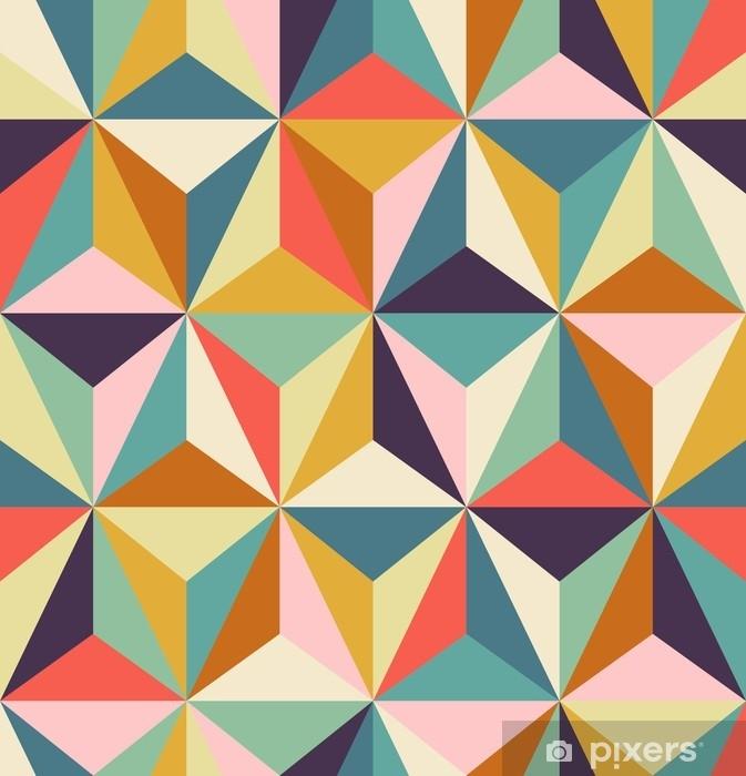 Naklejka Pixerstick Bez szwu geometryczny wzór retro - Zasoby graficzne