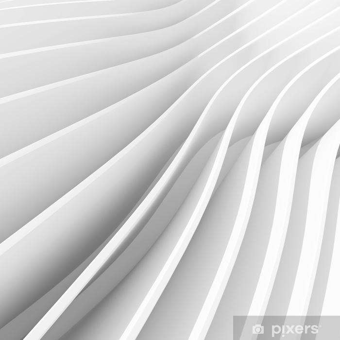 Fototapeta winylowa Biały architektura okrągły tło. abstrakcyjny wystrój wnętrz. 3d nowożytna architektura odpłaca się. futurystyczne budownictwo - Zasoby graficzne