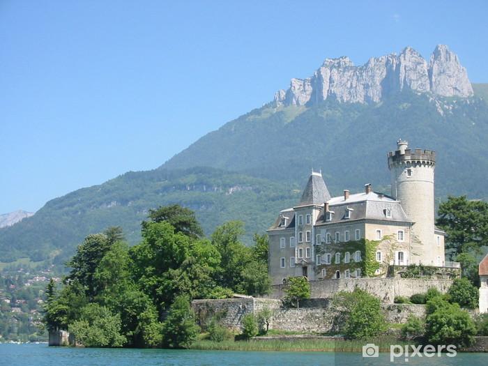 Naklejka Pixerstick Duingt zamek, Annecy, Francja - Wakacje