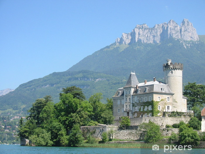 Vinilo Pixerstick Chateau de Duingt, Annecy, Francia - Vacaciones