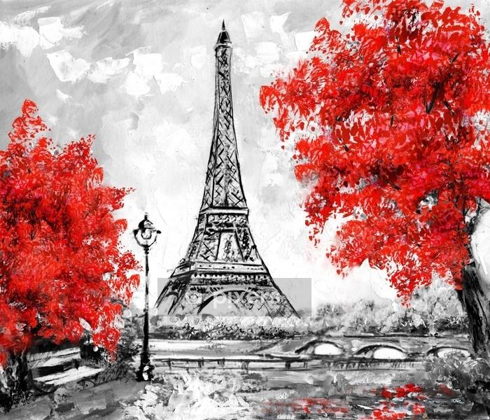 Wonderlijk Dekbedovertrek Olieverfschilderij, Parijs. Europees stadslandschap HT-73