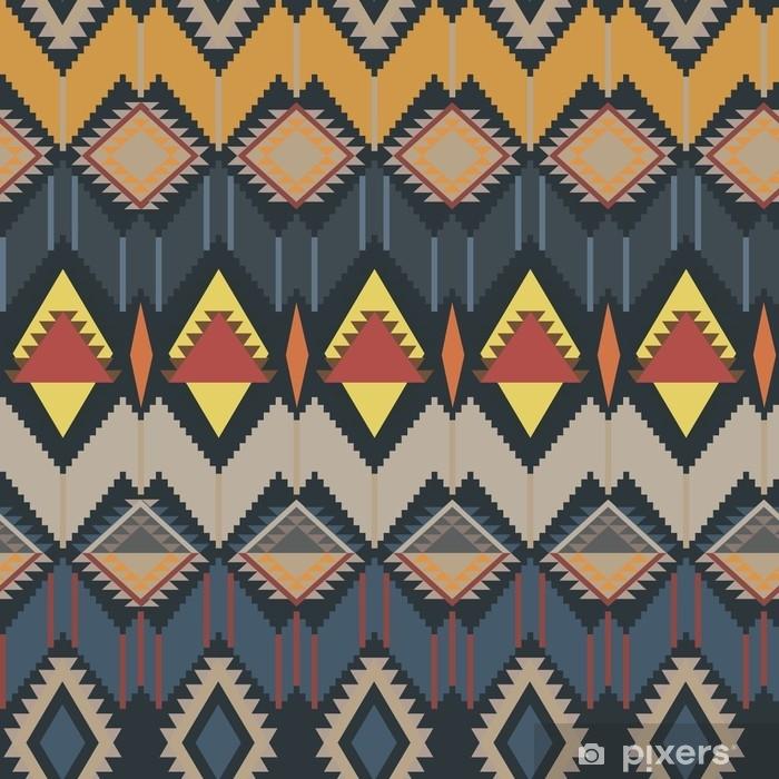 Geometrinen etninen malli. vektori kuva Pixerstick tarra - Graafiset Resurssit