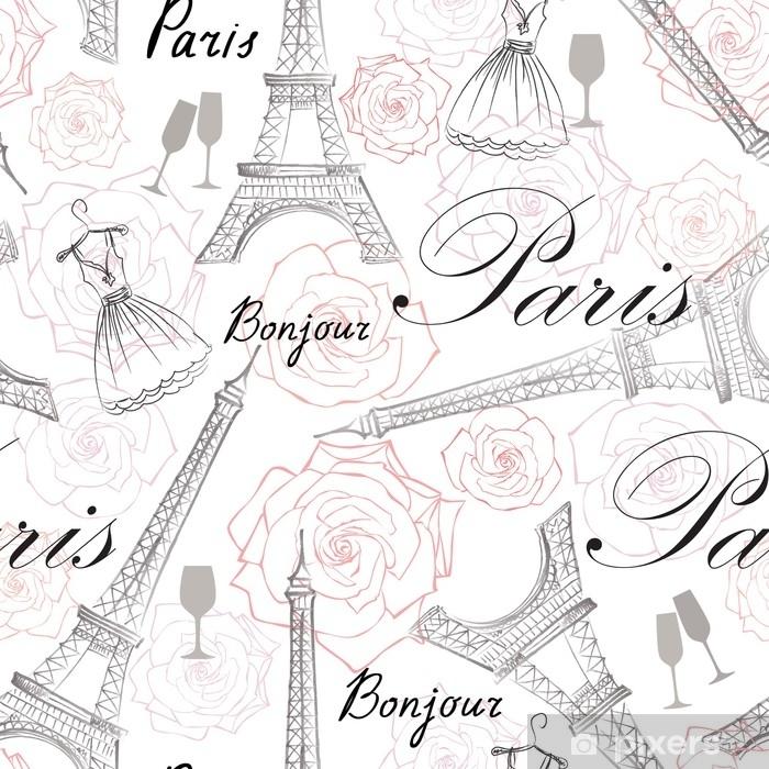 Kroppskudde Paris Stad Somlosa Monster Resa Frankrike Kakel Bakgrund Med Eiffeltornet Pixers Vi Lever For Forandring