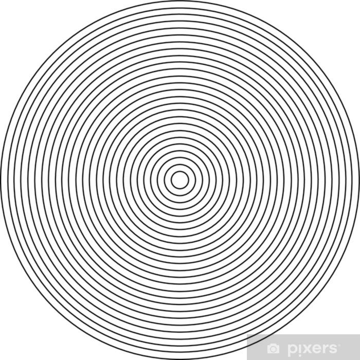 Pixerstick Sticker Concentrisch cirkelelement op een witte achtergrond - Grafische Bronnen