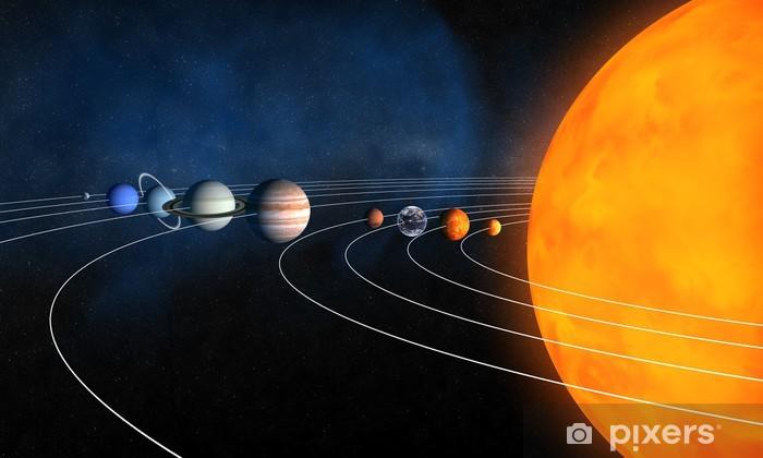 Naklejka Pixerstick Kompletny układ słoneczny - Przestrzeń kosmiczna
