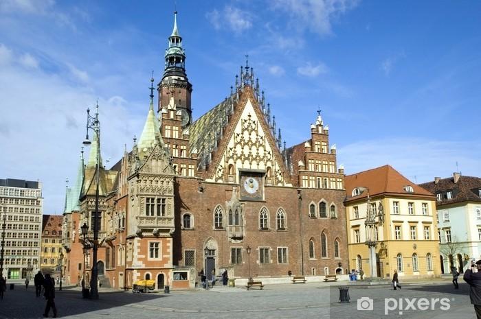 Papier peint vinyle Pologne Wroclaw mairie - Thèmes