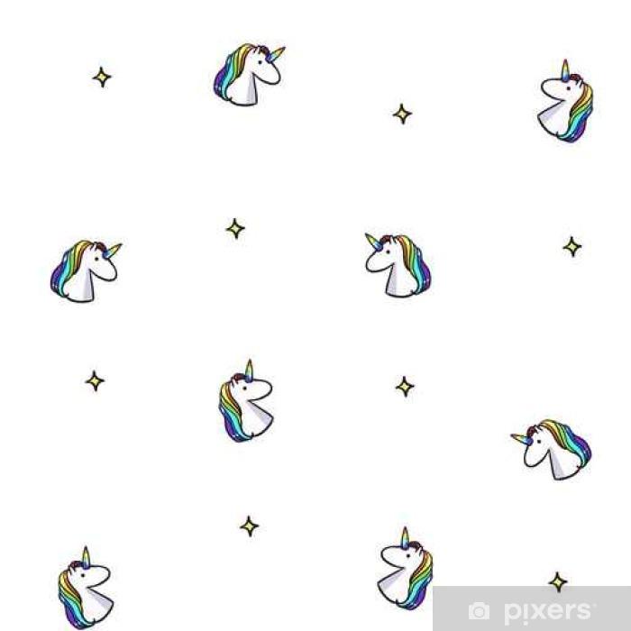 Carta Da Parati Vector Seamless Con Unicorni Arcobaleno Sfondo