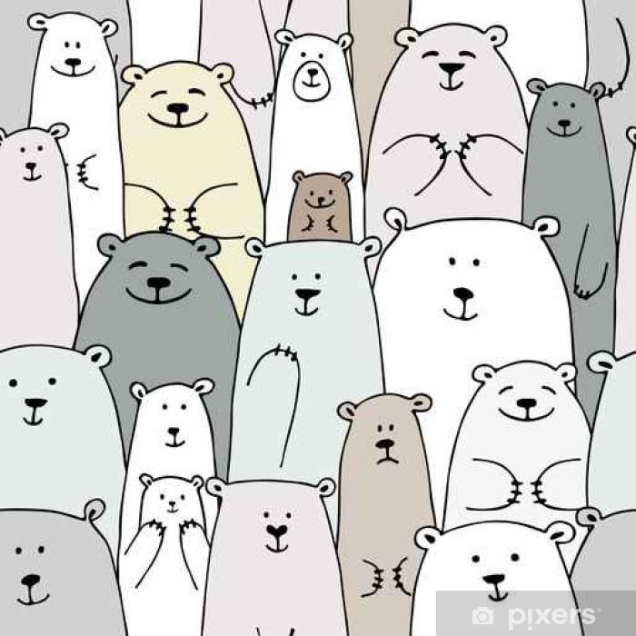 Fototapeta winylowa Niedźwiedzie rodziny, bez szwu wzór dla swojego projektu - Zwierzęta