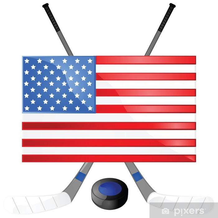 Papier peint vinyle De hockey des États-Unis - Articles de sport