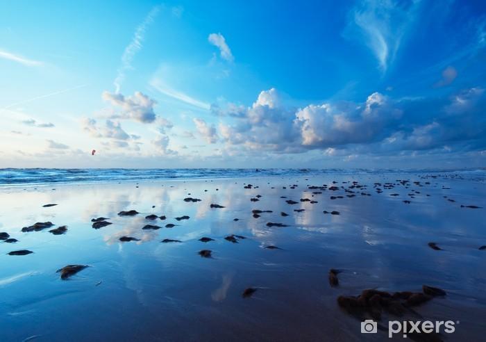 Vinyl-Fototapete Beach in the evening - Wasser