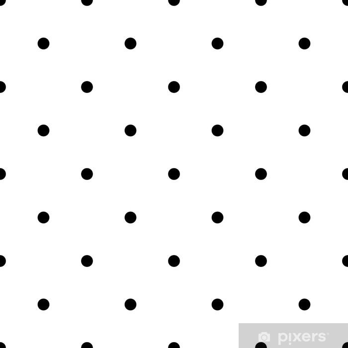 Seamless rockabilly polka dot vector pattern. Seamfree polkadot background wallpaper. Vinyl Wall Mural -