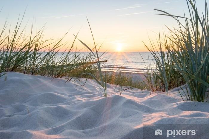 Vinilo Pixerstick Sonnenuntergang an der ostsee - Paisajes