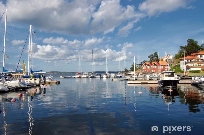 Papier peint vinyle Idylle suédois - Îles