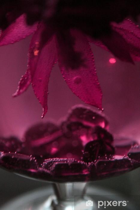 Papier peint vinyle Fleur dans le verre (5) - Fleurs