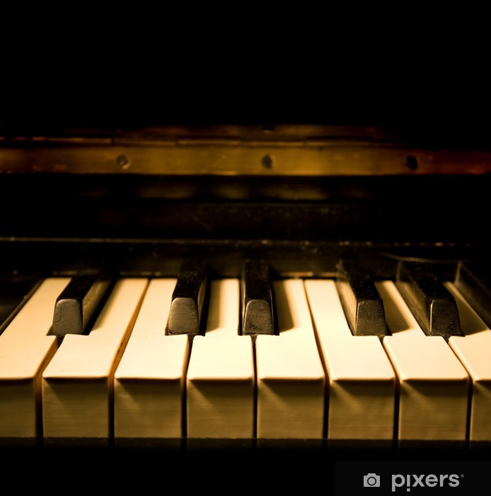 Pixerstick Klistermärken Vintage Piano - Musik