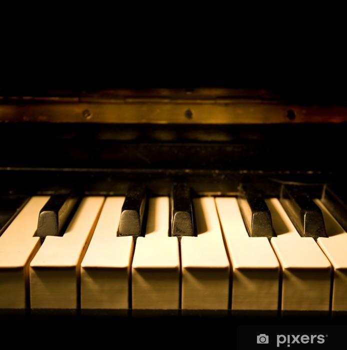 Sticker Pixerstick Piano Vintage - Musique