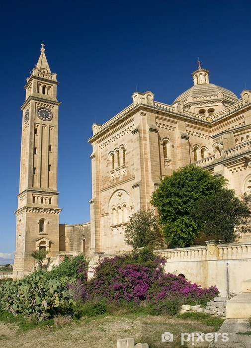 Nálepka Pixerstick Bazilika ta Pinu u Gharb na Gozu ostrově, Malta - Evropa