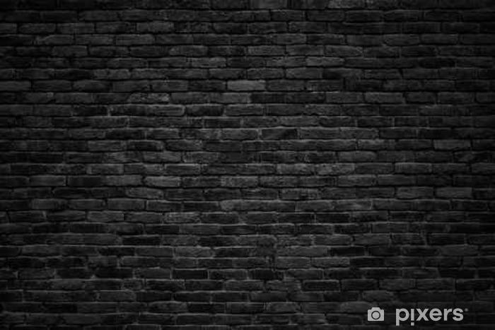 Black Brick Wall Dark Background For Design Wall Mural