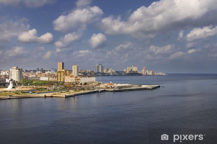 Sticker Pixerstick Vue sur la baie de La Havane - Thèmes