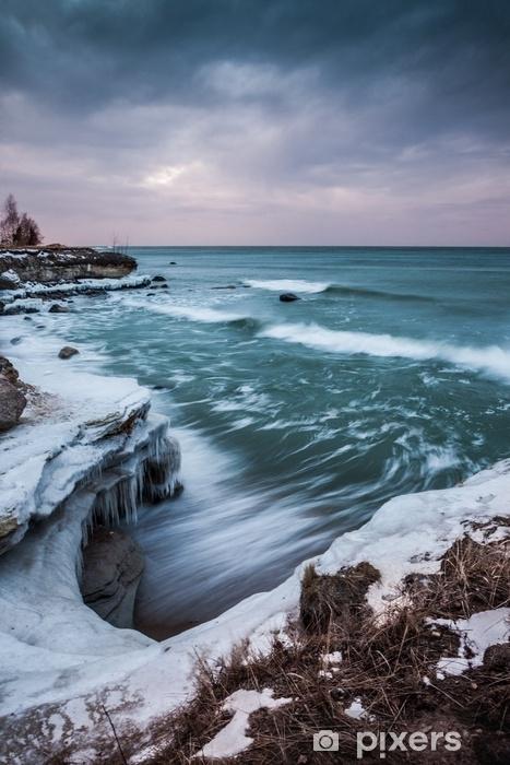 Vinyl Fotobehang Zonsondergang over de zee - Landschappen
