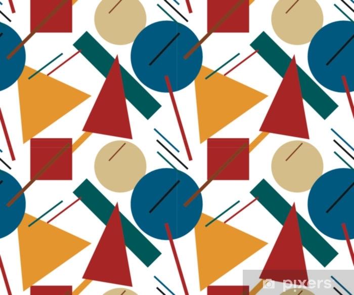 Sticker Pixerstick Formes géométriques abstraites colorées. modèle sans couture. supermatisme. illustration vectorielle - Ressources graphiques