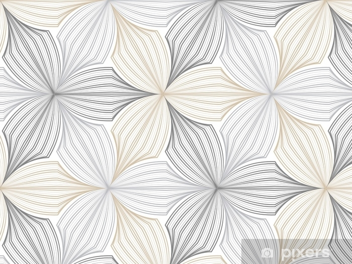 flower pattern vector, repeating linear petal of flower, monochrome stylish Vinyl Wall Mural - Graphic Resources