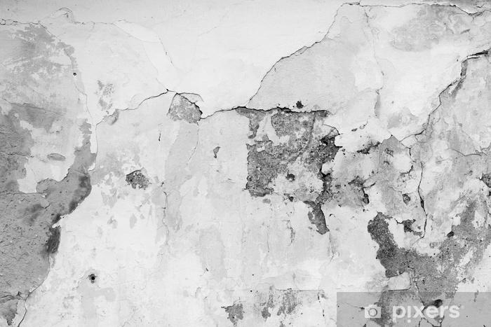 Fototapeta winylowa Fragment ściany z zadrapaniami i pęknięciami - Zasoby graficzne