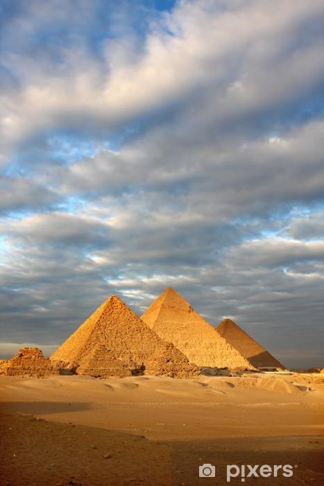 Naklejka Pixerstick Piramidy egipt - Zabytki