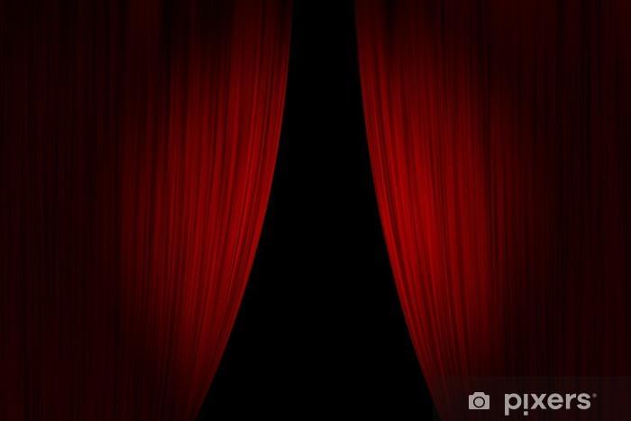 Naklejka Pixerstick Zasłony red teatr otwarty - Tła