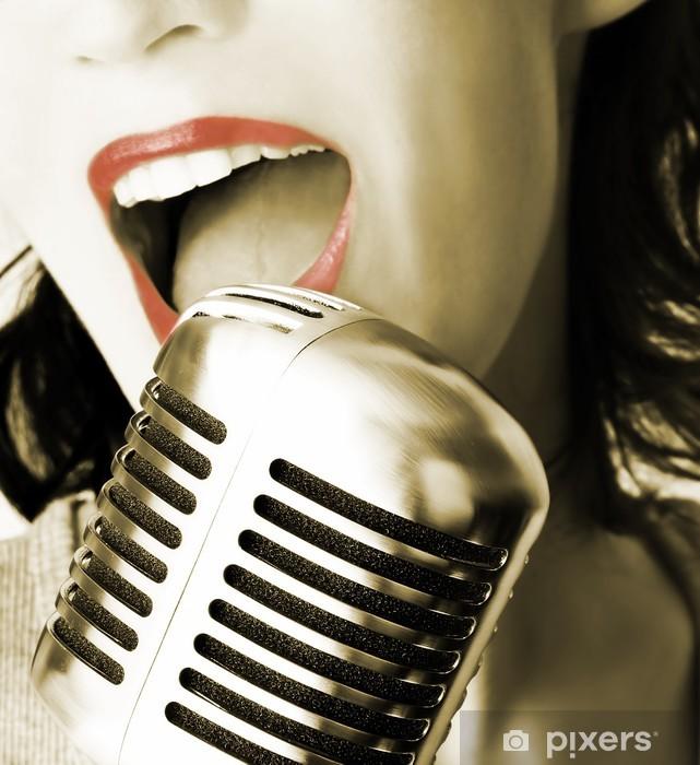 Vinyl Fotobehang Retro zanger - Rock