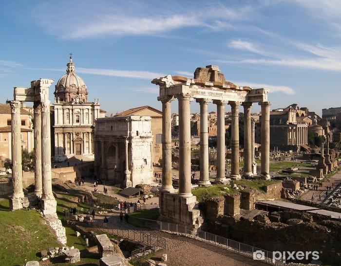 Naklejka Pixerstick Roman-Veduta del Foro Romano - Tematy