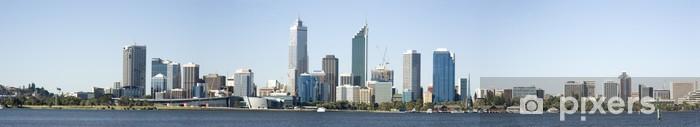 Fototapeta winylowa Perth Skyline z Swam rzekę nocą - Pejzaż miejski