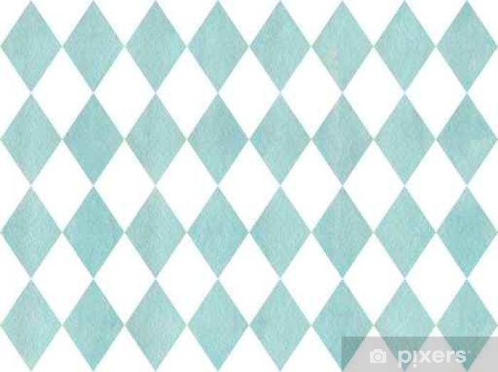 Watercolor diamond pattern. Pixerstick Sticker - Graphic Resources