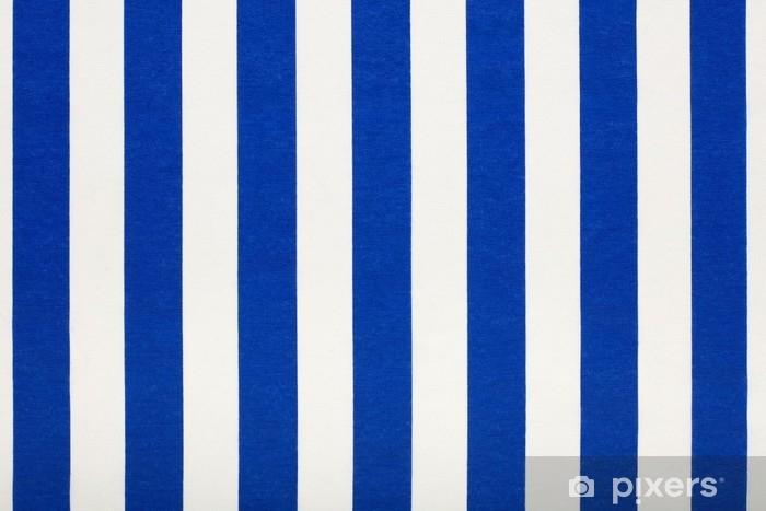 blå stribet stof