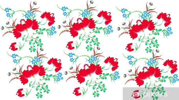 Petrikov Halk Boyama çiçek Deseni Duvar Resmi Pixers Haydi