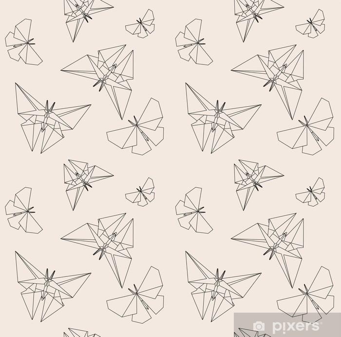 Papier Peint Papillon Mince Ligne Style Origami De Papier Modèle