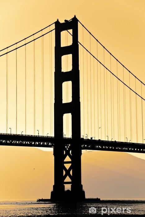 Sticker Pixerstick Golden gate - Villes américaines