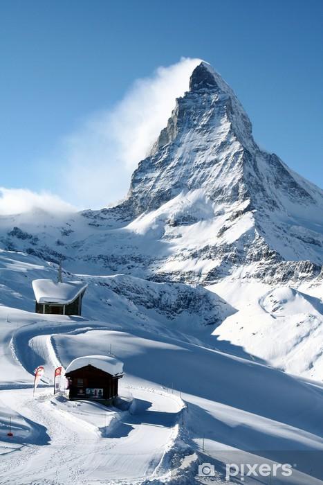 Matterhorn in Winter Pixerstick Sticker - Themes
