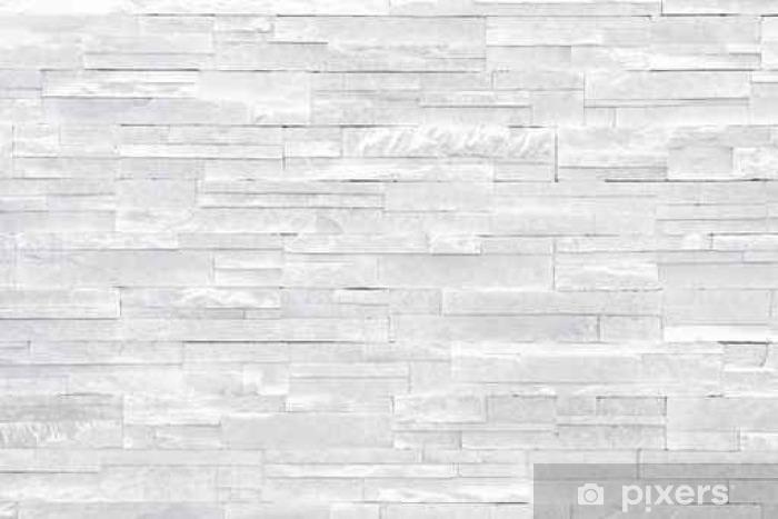 Carta da Parati in Vinile Muro di pietra sfondo bianco. piastrelle di  pietra impilati vengono spesso utilizzati in decorazioni di design  d interni come muro ... 969332e13879