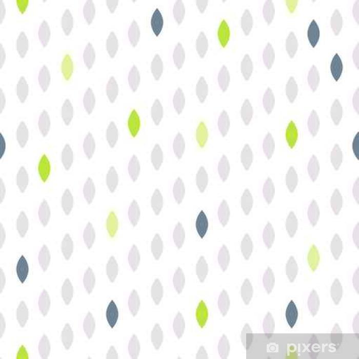 Papier peint vinyle Simple forme de point de polka de chute accents vert seamless pattern. Vector ligne géométrique fond. motif Polkadot. ornement scandinave Dotted. - Ressources graphiques
