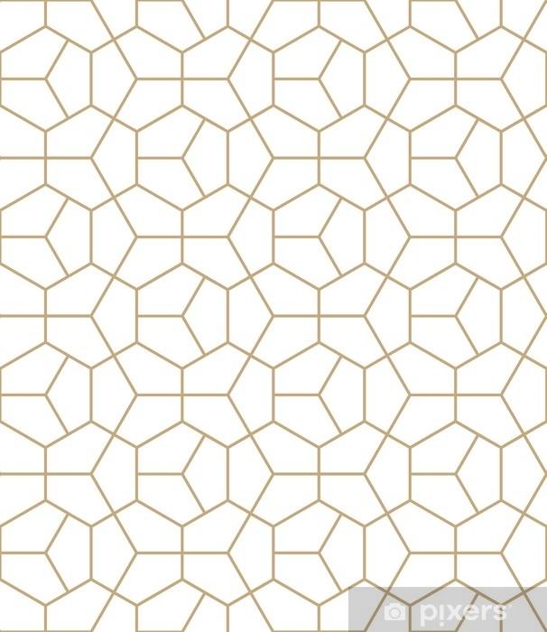Naklejka na szybę i okno Abstrakcyjna geometria, złoty, deco, sztuka, sześciokąt, wzorzec - Zasoby graficzne